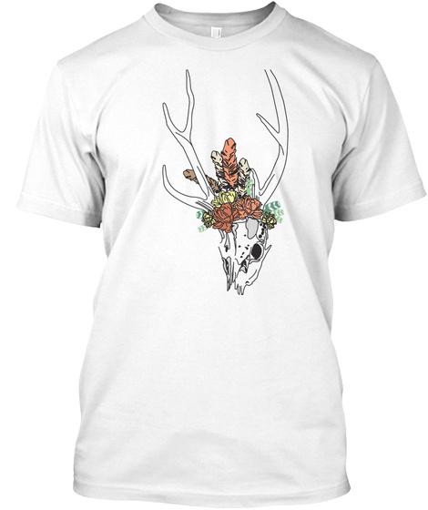 Festival Deerskull White T-Shirt Front