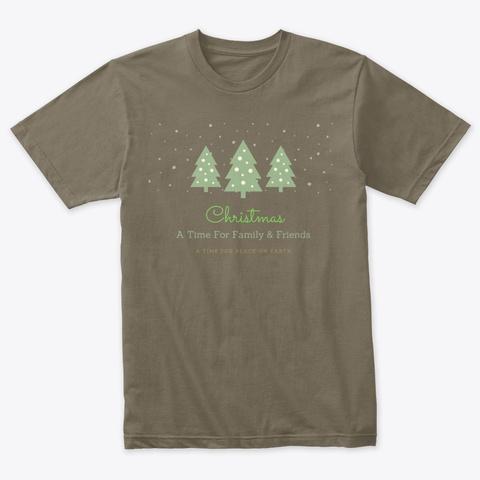 Christmas Time For Family Venetian Gray T-Shirt Front