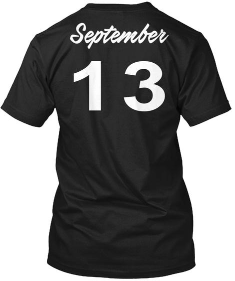 September 13   Virgo Black T-Shirt Back