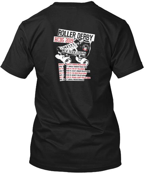 Roller Derby Hcdg 2019 Mlk Park Black T-Shirt Back