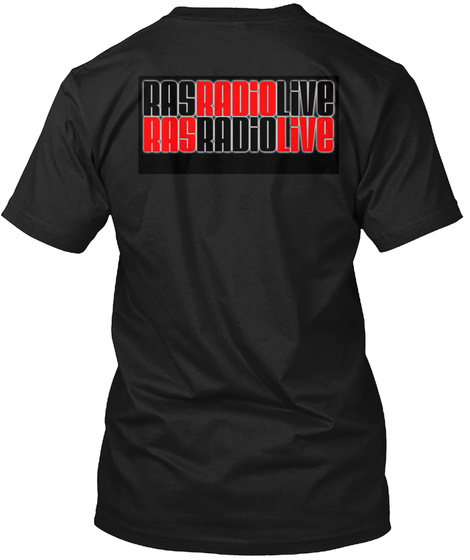 Don't Be A Buzzy  Rasradiolive.Com  Black T-Shirt Back