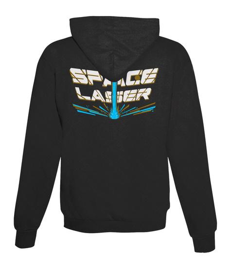(Eu) Space Laser Zip Up Jet Black T-Shirt Back