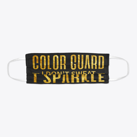 Color Guard   Sparkle   Face Mask Black T-Shirt Flat