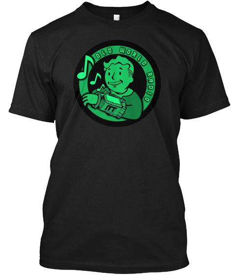 Old World Radio Black T-Shirt Front