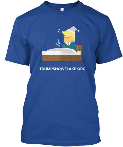 Sleepy Trump Deep Royal áo T-Shirt Front