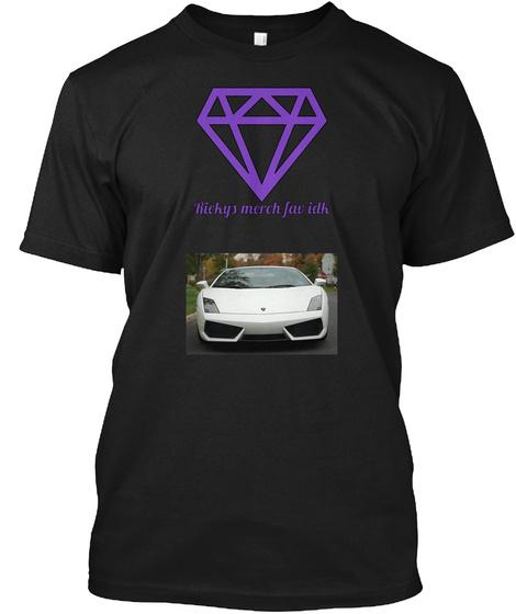 Rickys  Merch Fav Idk  Black T-Shirt Front