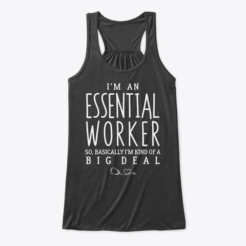 Essential Worker Funny Nurse Dark Grey Heather T-Shirt Front