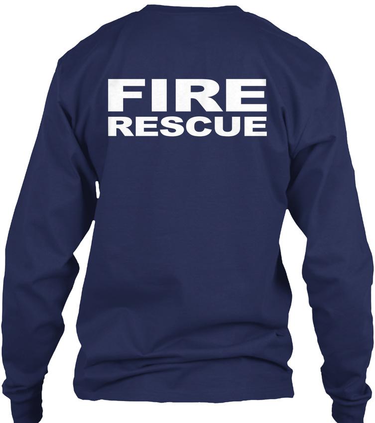 Fire-Rescue-S-F-D-Gildan-Long-Sleeve-Tee-T-Shirt thumbnail 8