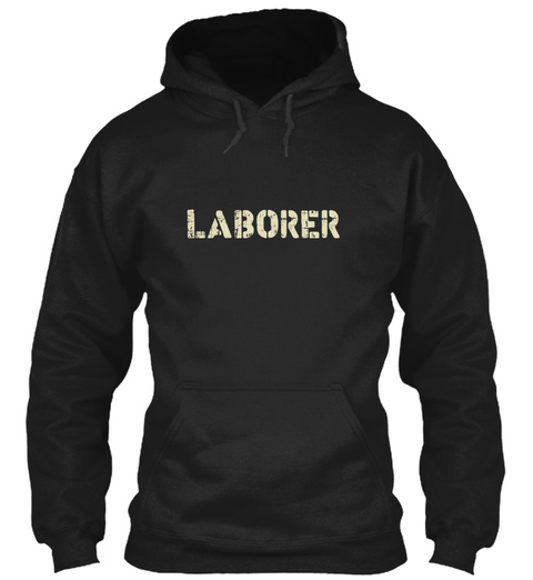 Laborer Limited Edition Black T-Shirt Front
