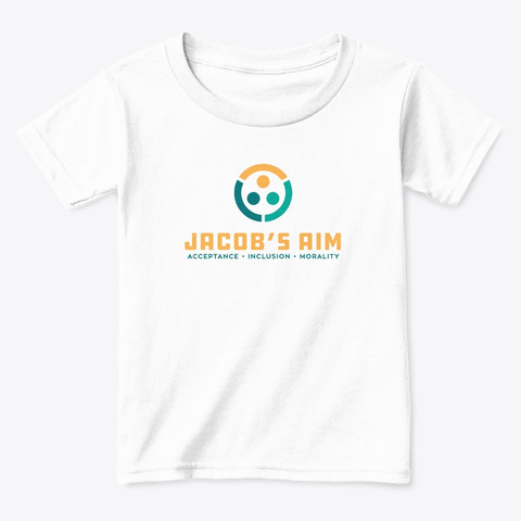 Jacob's Aim Logo White  T-Shirt Front