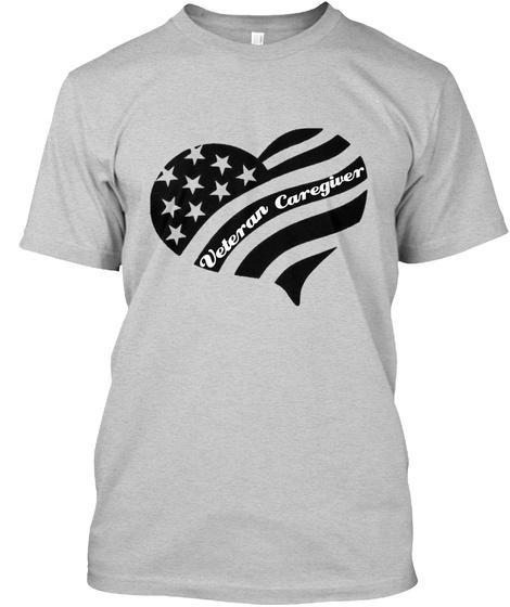 Veteran Caregiver Light Steel T-Shirt Front