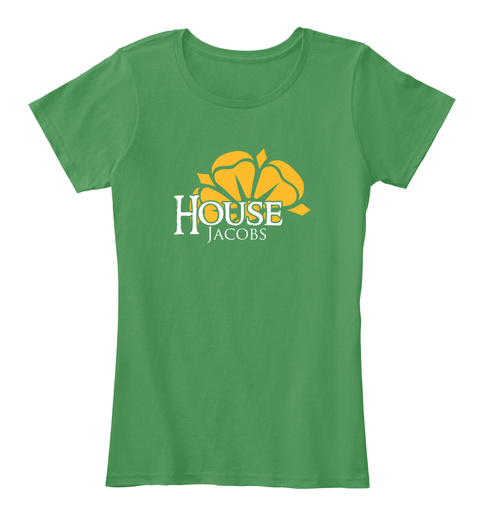Jacobs Family House   Flower Kelly Green  T-Shirt Front