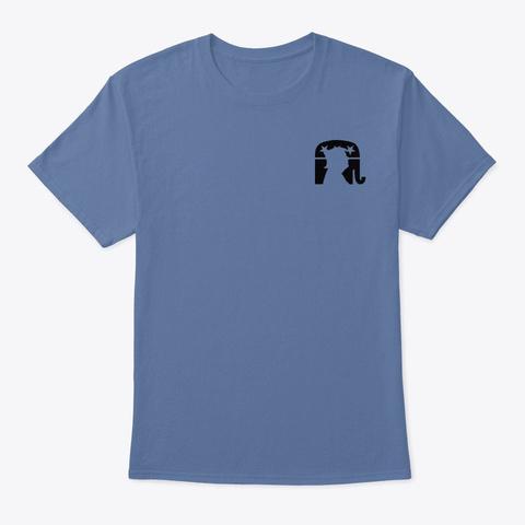 False Song Of Globalism Denim Blue T-Shirt Front