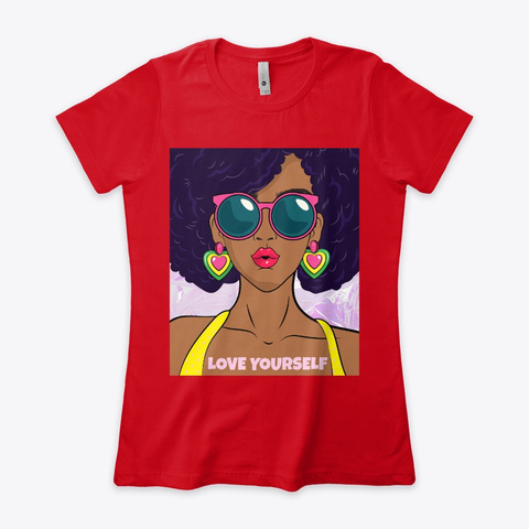 Love Yourself Red T-Shirt Front