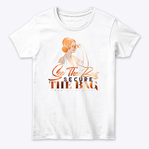 The Bag White T-Shirt Front