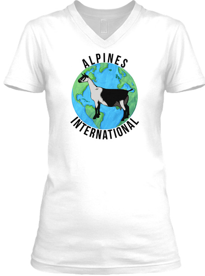 Alpines International White T-Shirt Front