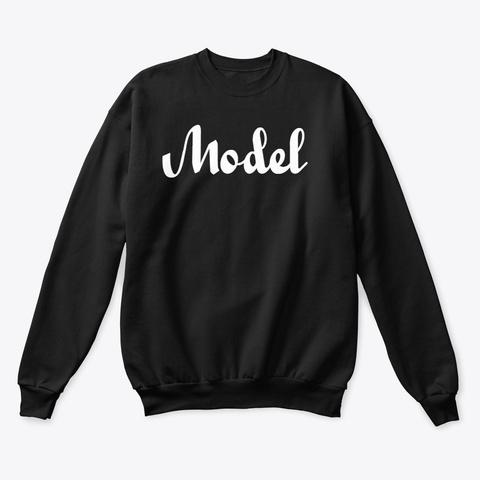 I'm A Model Black T-Shirt Front