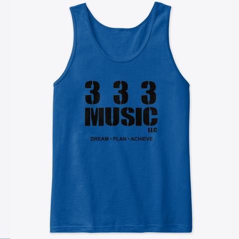 333 (Black Logo) Tanks Tops  Royal T-Shirt Front