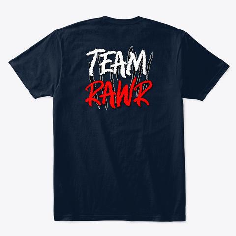 Team Rawr New Navy T-Shirt Back