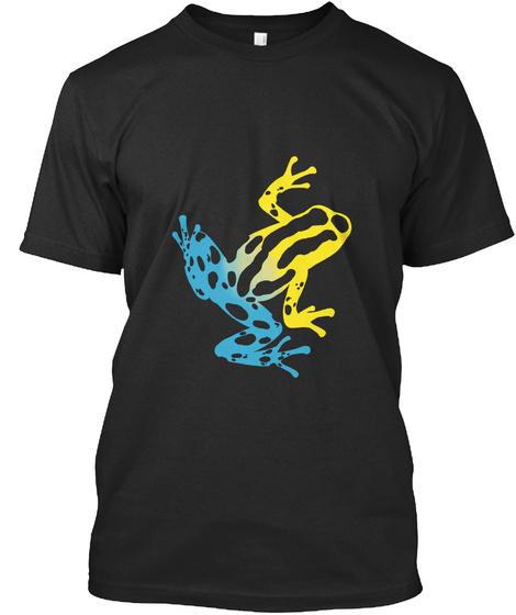 Poison Dart Frog Black T-Shirt Front