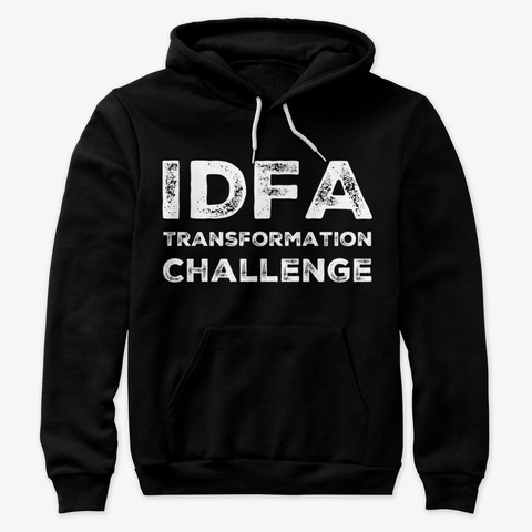 Idfa Transformation Challenge White Logo Black T-Shirt Front