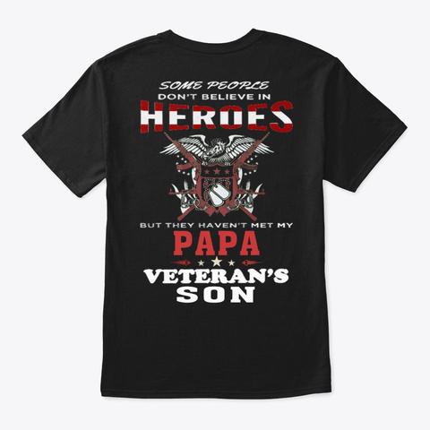Veteran   Soldier   Military   Vet  1031 Black T-Shirt Back