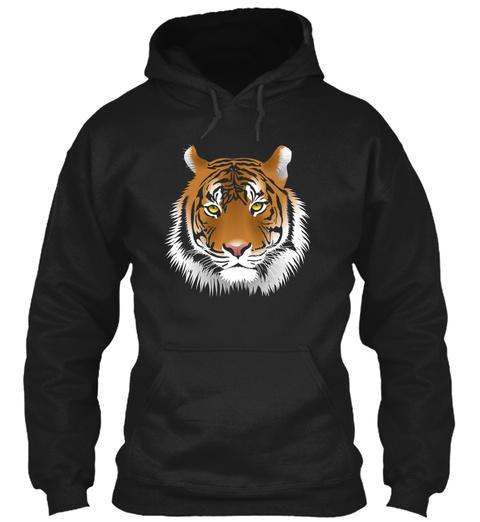 Tiger, Tiger Black T-Shirt Front
