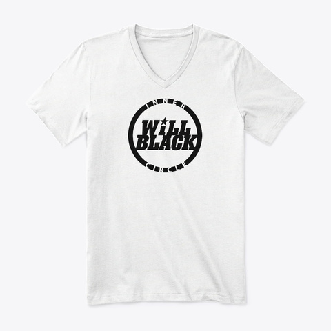 Inner Circle V Neck T Shirt Black Logo White T-Shirt Front