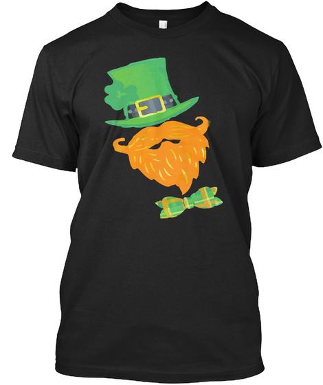 St. Patrick's Leprechaun Tshirt Black T-Shirt Front