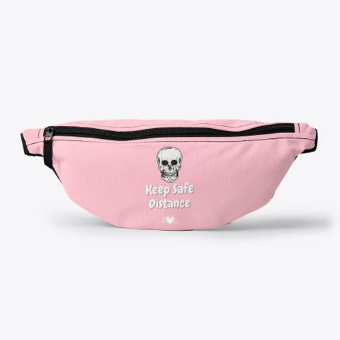 Keep Safe Distance Pink T-Shirt Front
