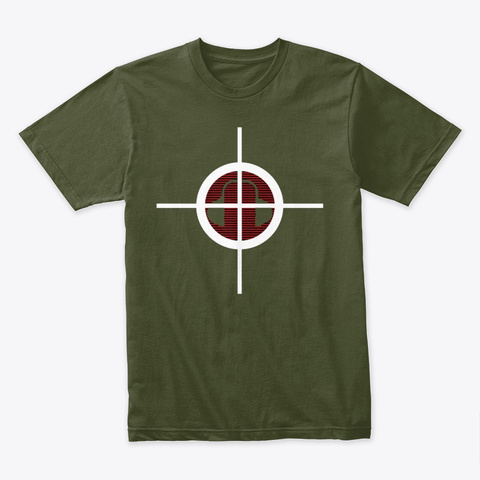 Hearshot Military Green T-Shirt Front