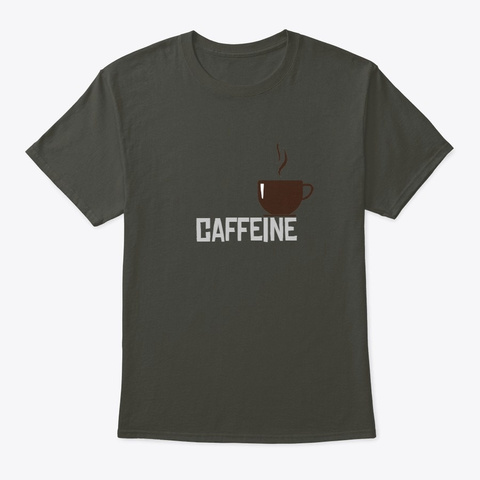 Caffeine Smoke Gray T-Shirt Front