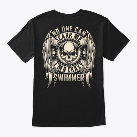 Crazy Swimmer Shirt Black T-Shirt Back