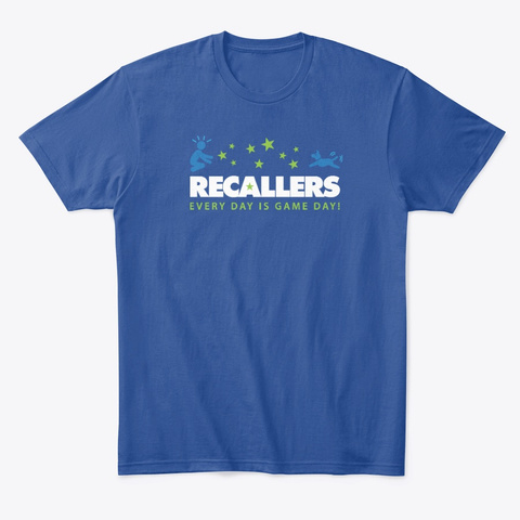 Recallers Hoodies, Tees And Mugs Deep Royal T-Shirt Front