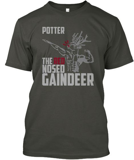 Potter Gaindeer Smoke Gray T-Shirt Front
