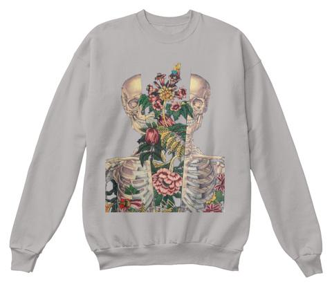 Flower Mind Sweatshirts Light Steel  T-Shirt Front