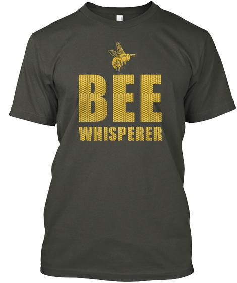 Bee Whisper Smoke Gray T-Shirt Front