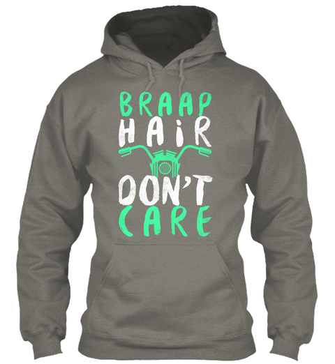 Braap Hair Don't Care Charcoal T-Shirt Front