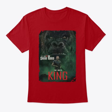 Kong Skull Island05 Deep Red T-Shirt Front