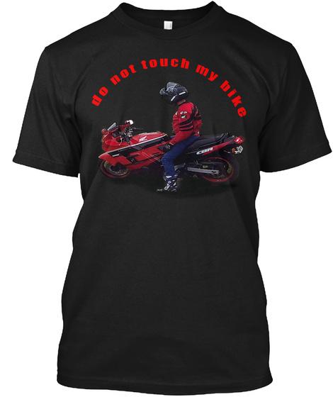My Bike Black T-Shirt Front