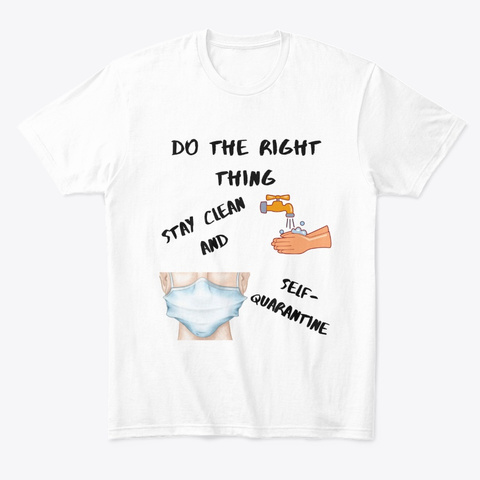 Right Thing White T-Shirt Front