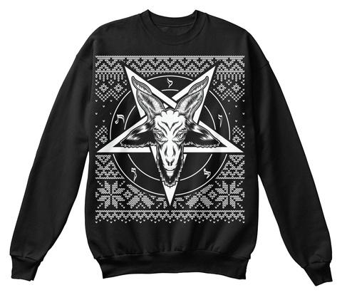 baphomet christmas black sweatshirt front