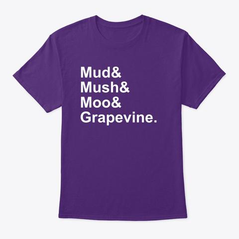 Grapevine List Purple T-Shirt Front