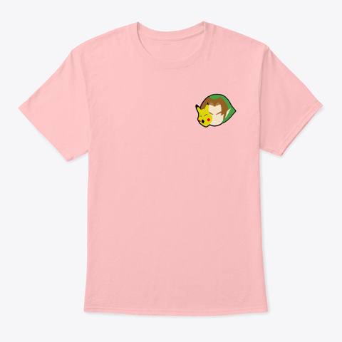 Linkachu Simple Pale Pink T-Shirt Front