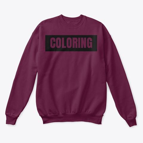 Mister 'coloring' Box Logo   Black Maroon  T-Shirt Front