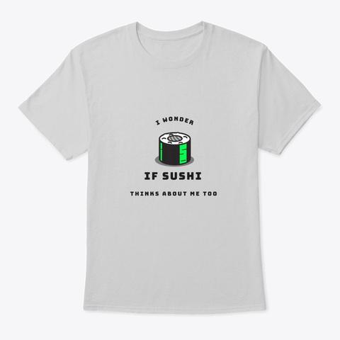 Sushi Love. Light Steel T-Shirt Front