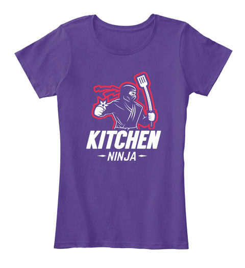 Kitchen Ninja Purple T-Shirt Front