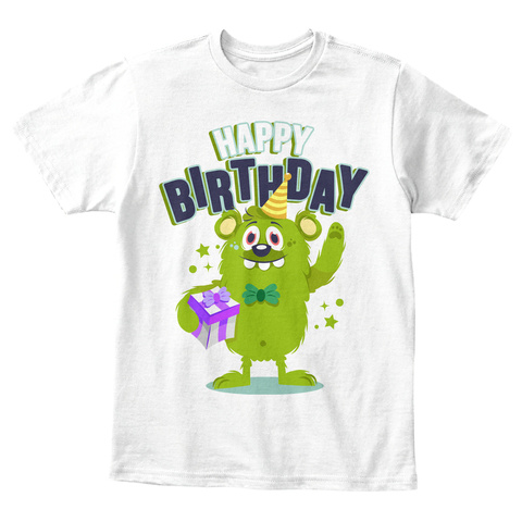 Funny Happy Birthday T Shirt 5 White Front