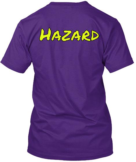 Hazard Purple T-Shirt Back