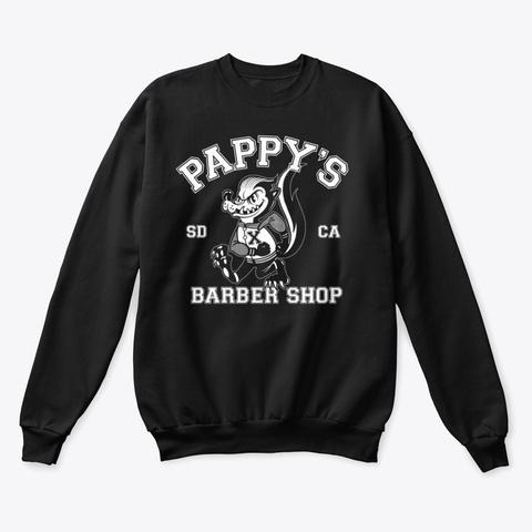 Pappy's Skunk Design Black T-Shirt Front